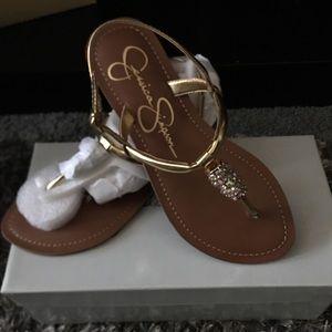New Jessica Simpson gold sandles